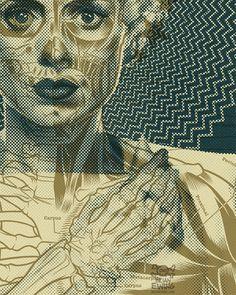 Brian Ewing BLOG | SWANS gig poster #skeleton #swans
