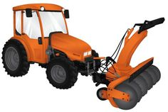 Heavy Machinery on the Behance Network #orange #snow #machinery #illustration #groundscare