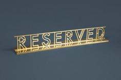 Table reservation sign for Stockholm-based restaurant Paul's at Haymarket by 25AH, Sweden