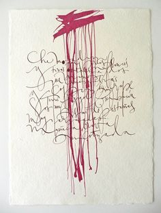 Silvia Cordero Vega Calligraphy artist #type