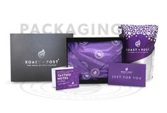 Roast & Post branding and packaging for gift packs, by Redspa http://redspa.uk