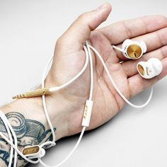 Marshall Minor White In-Ear Headphones #tech #flow #gadget #gift #ideas #cool