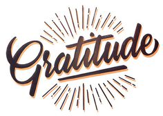 """Gratitude"" Lino Print By Peter Kortleve #lettering #printmaking #print #lino #type #linocut"