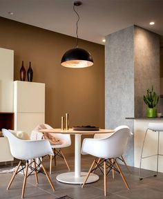 Studio Apartment with Warm Organic Color Scheme and Materials - InteriorZine