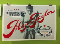"Script Font in ""Major Taylor"" 