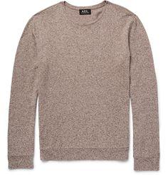 A.P.C. Mélange Cotton And Linen-Blend Sweater