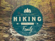 Dribbble - Hiking by Brian Simpson #outdoors #type #vintage