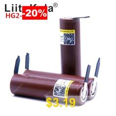 LiitoKala #HG2 #18650 #3000mAh #battery #18650HG2 #3.6V #discharge #20A #dedicated #batteries # #DIY #Nickel