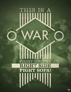 V - Anti-SOPA Campaign on the Behance Network #fight #war #sopa #poster