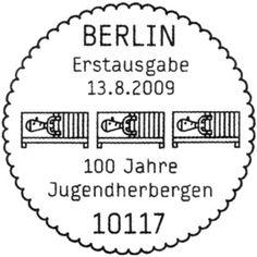 Jugendherbergen-Berlin #circle #stamp #germany #typography