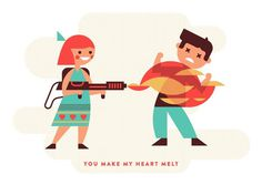 You Make My Heart Melt #heart #flames #valentines #luke #illustration #bott #love