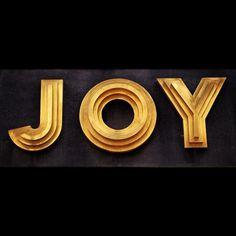 Joy #typography #type #art deco #signage