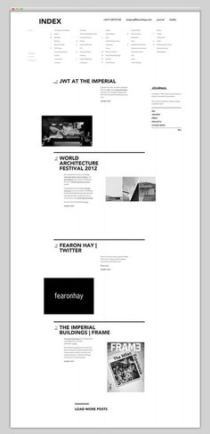 Websites We Love #architecture #grid #website #web #web design #site #grid based