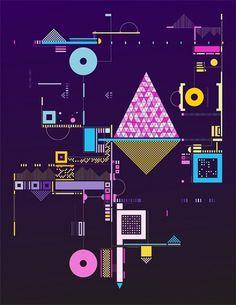 Biblioteca visual #purple #design #inspiration #geometric