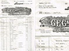 Invoice from G.E. Garnett #branding #id #design #graphic #illustration #car #boot #sale #paper