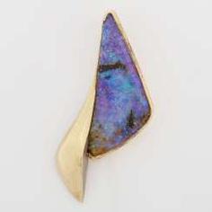 Clip pendant with boulder opal