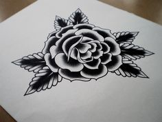 Tom Gilmour #rose #illustration #flash #tattoo