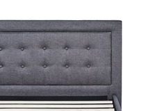 dreamcloud grey soft button-tufted upholstered headboard