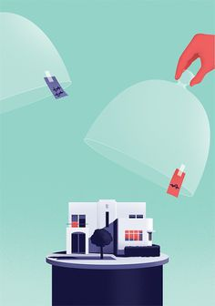 Thomas Dantony Illustration commissioned by Kiplinger magazine, the article was about lowering your home insurance. http://thomasdanthony.tu