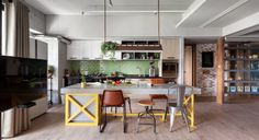 A Taiwanese Home Where the Kitchen Takes the Stage #interior #design #decor #deco #decoration