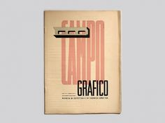 Display | Campo Grafico 1935 2 | Collection #print #book #publication #cover #vintage #typography