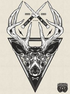 Recent Illustrations 2012 on the Behance Network #antlers #knives #illustration #deer