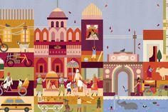Lotta Nieminen | Walk This World #flat #illustration