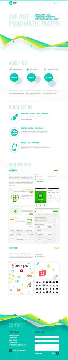 Pragmatic Mates Website Design #design #website #blue #web #green