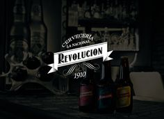 Cerveza Revolución. on Behance #packaging #logo #beers #branding