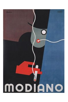 ITALIAN Art Deco Poster MONDIANO CIGARETTES Ad High Quality