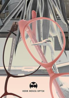Ad illustration for Herr Menig Optik, an optician in Nürnberg Germany - www.philippzm.com #ad #illustration #glasses #optician