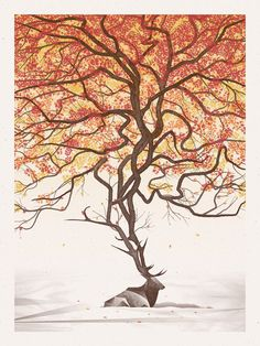 Image of Elk #elk #tree #dkng #poster