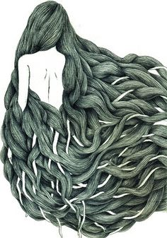All sizes | Untitled | Flickr - Photo Sharing! #hair #illustration #drawing #girl