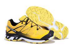 Salomon XT Wings 3 Trail Running Shoes Yellow Black #shoes