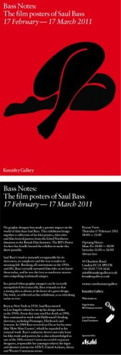 The film posters of Saul Bass « Eight:48 #bass #gallery #red #kemistry #saul #black #notes #poster #film