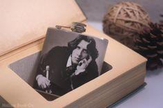Vintage Hollow Book Safe & Oscar Wilde Hip Flask by HollowBookCo