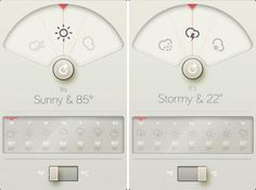 BRAUN inspired iPone Weather App Design