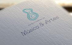 Escola Videira de Música e Artes | Identity on Behance #lines #churhc #branding #school #of #design #levileal #sound #music #logo #waves