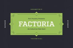 Factoria #lettering #script #type #geometrical #typography