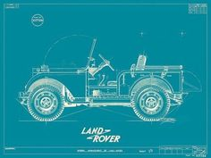 Land Rover #jeep #vehicle #print #land #illustration #blue #rover #drawing