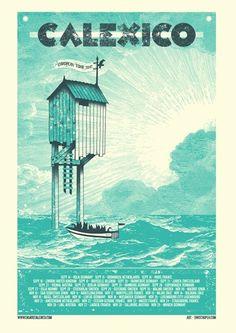 Calexico #music #silkscreen #poster #typography