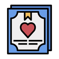 See more icon inspiration related to love and romance, files and folders, contract, agreement, sing, marriage, wedding, paper and pen on Flaticon.