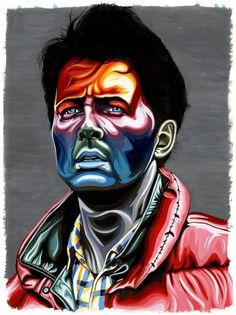 Carty Sewill  These Old Colors #painting #acrylic #back #to #the #future #marty mcfly