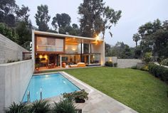 architecture Modern residence Lima #white #modern #home #wood #architecture