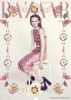 {fashion inspiration | collaboration : victoria and albert museum x harper's bazaar} #bazaar #harpers #poster