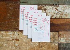 Café et bal littéraire / Bureau d'Investigation Graphique / Nicolas Millot #design #graphic