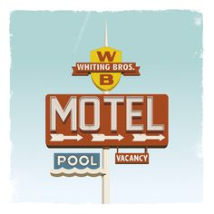 Whiting Brothers Art Print #vintage #sign #motel