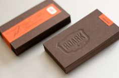 Roark   letterpress business cards