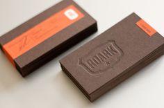 Roark letterpress business cards #logo #letterpress #deboss #cards #emboss