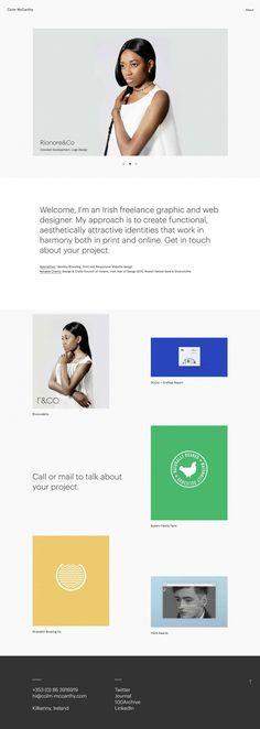 Colm Mc Carthy design portfolio type font typography mindsparkle mag webdesign website best simple modern minimal cool award sotd site of th
